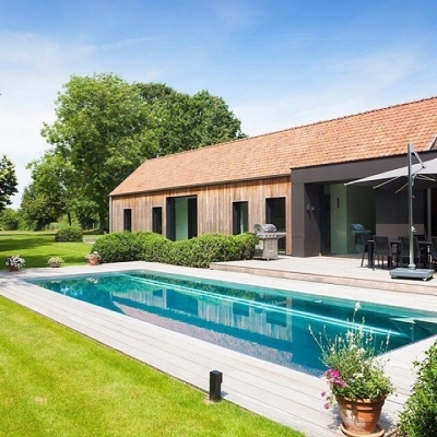 @nouveau_pools, inox parel in Sint-Martens-Latem